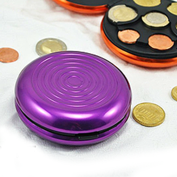 Porta moedas em alumínio