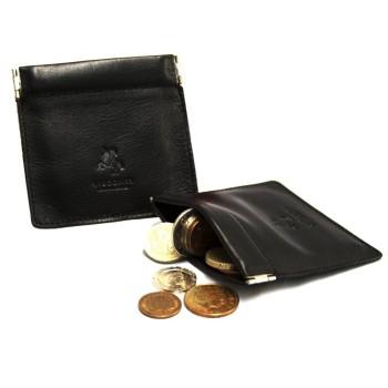 Porta moedas de bolso Retro para homem em pele