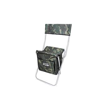 Cadeira de pesca camuflada com bolsa