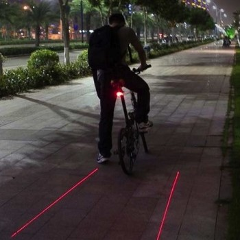 Sinalizador Laser para bicicleta