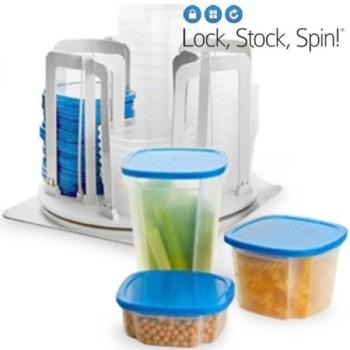 Recipientes de Plástico Lock, Stock, Spin – 49 peças