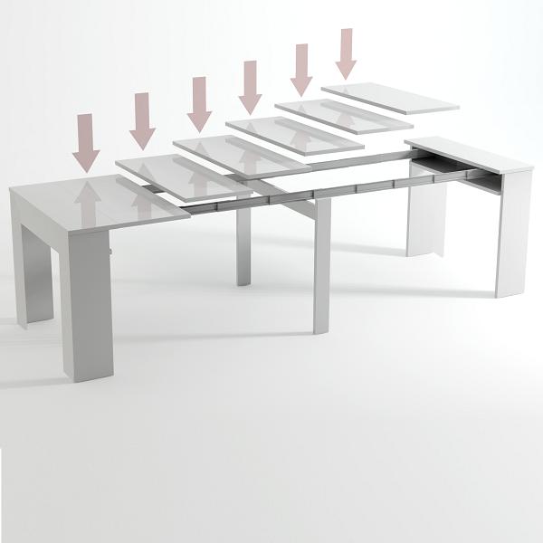 Mesa consola extens vel at 235 cm stock off - Mesa consola extensible conforama ...