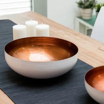 Taça Decorativa White Copper