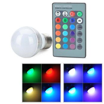 Lâmpada LED 3W Multicolor c/ Comando