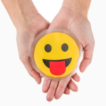 Mini Botija de Calor Instantâneo para Mãos Emoji Smile