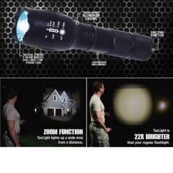 Lanterna Táctica Lled c/Zoom 2000W