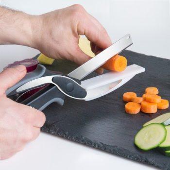 Clever Cutter – faca e tábua de corte 2-em-1