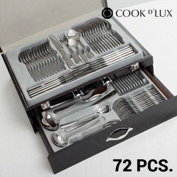 Set de Talheres em Aço Inoxidável Cook D´Lux (72 peças)
