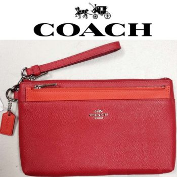 Bolsa Coach Colorblock Red/Orange