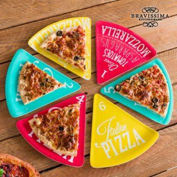 Pratos para Pizza Colors Bravissima Kitchen (6 peças)