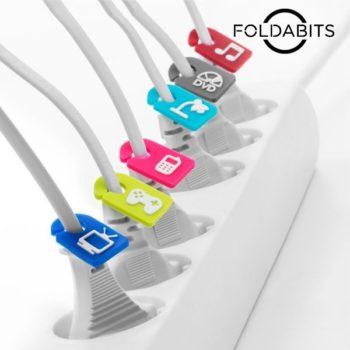 Identificadores de Cabos Foldabits (pack de 6)