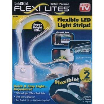 Flex Lites – 2 Tiras Flexíveis de 9 LEDs