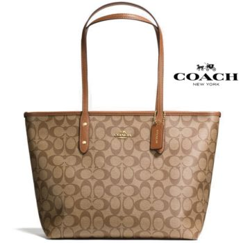 Mala Coach City Zip Tote Signature