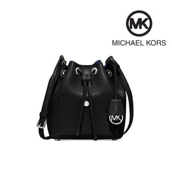 Mala Michael Kors Greenwich Bucket Bag Black/Fuchsia