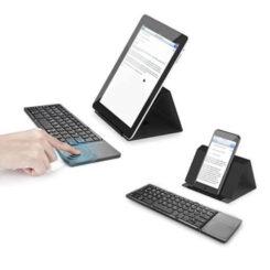 Teclado Bluetooth Dobrável com Mousepad