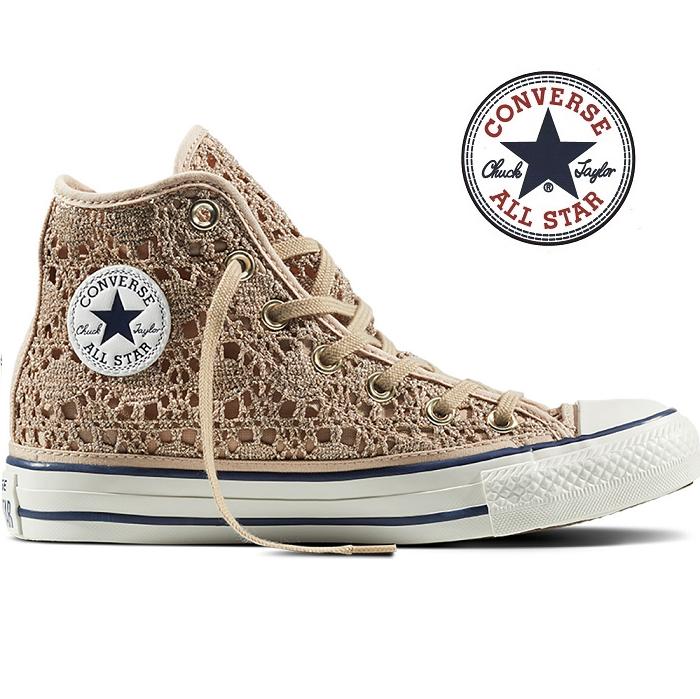 2e9ae5c73ea5e Sapatilhas Converse All Star Crochet Metallic Gold - Stock-Off