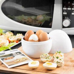 Cozedor de Ovos para Microondas com Livro de Receitas
