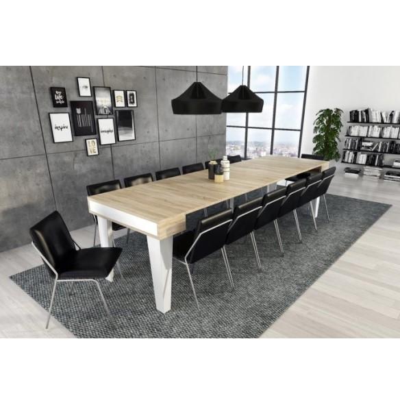 Mesa de jantar consola extens vel nordic kl branco e for Casa moderno kl
