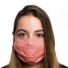 Máscara Facial Pro Tech Rosa Certificada Citeve Lavável e Reutilizável de Uso Comunitário