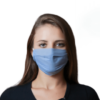 Máscara Facial Pro Tech Azul Certificada Citeve Lavável e Reutilizável de Uso Comunitário