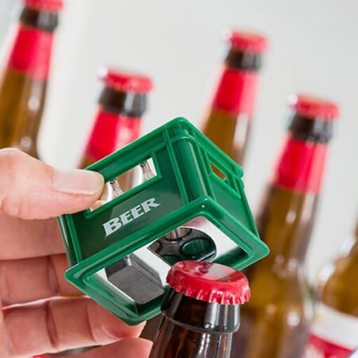 Abre Garrafas com Íman Caixa de Cerveja