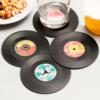 Bases para Copos Retro Discos de Vinil (Pack de 4)